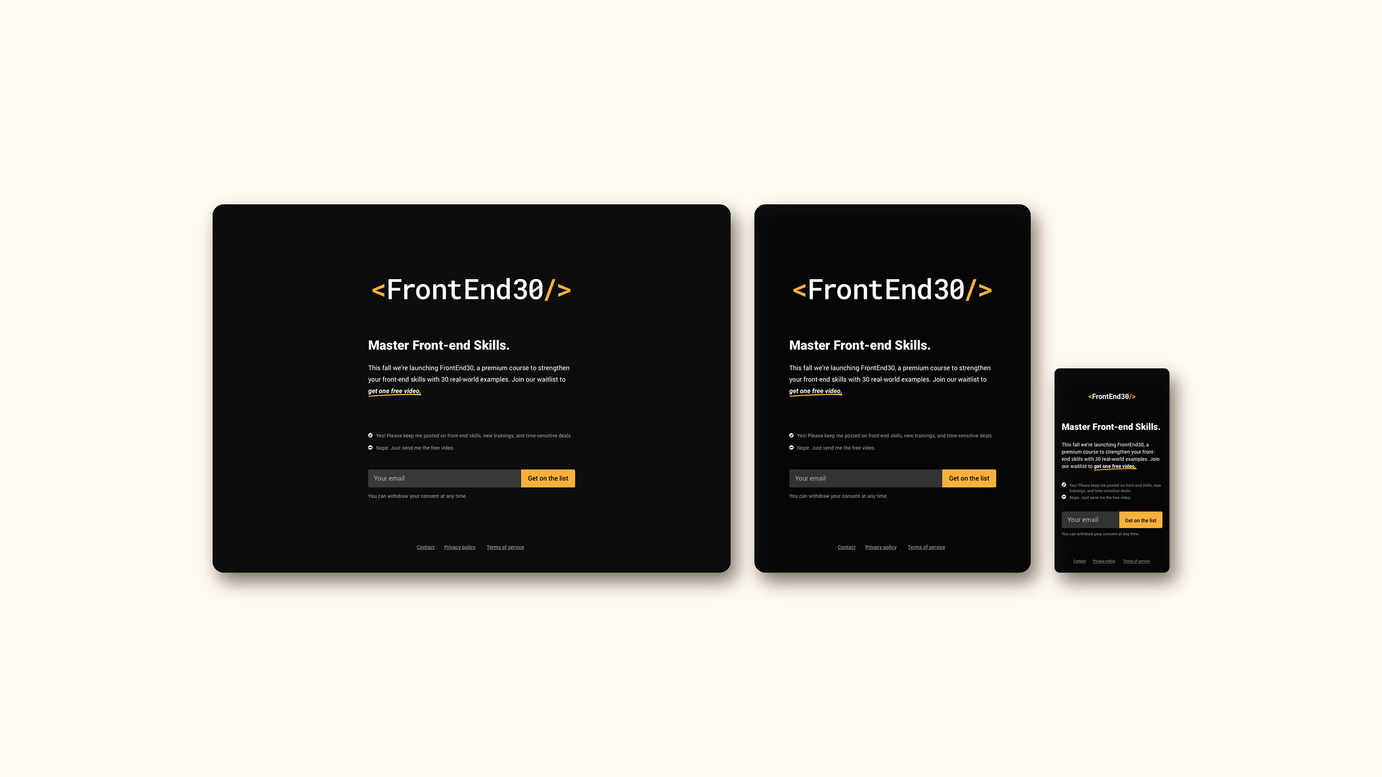 FrontEnd30