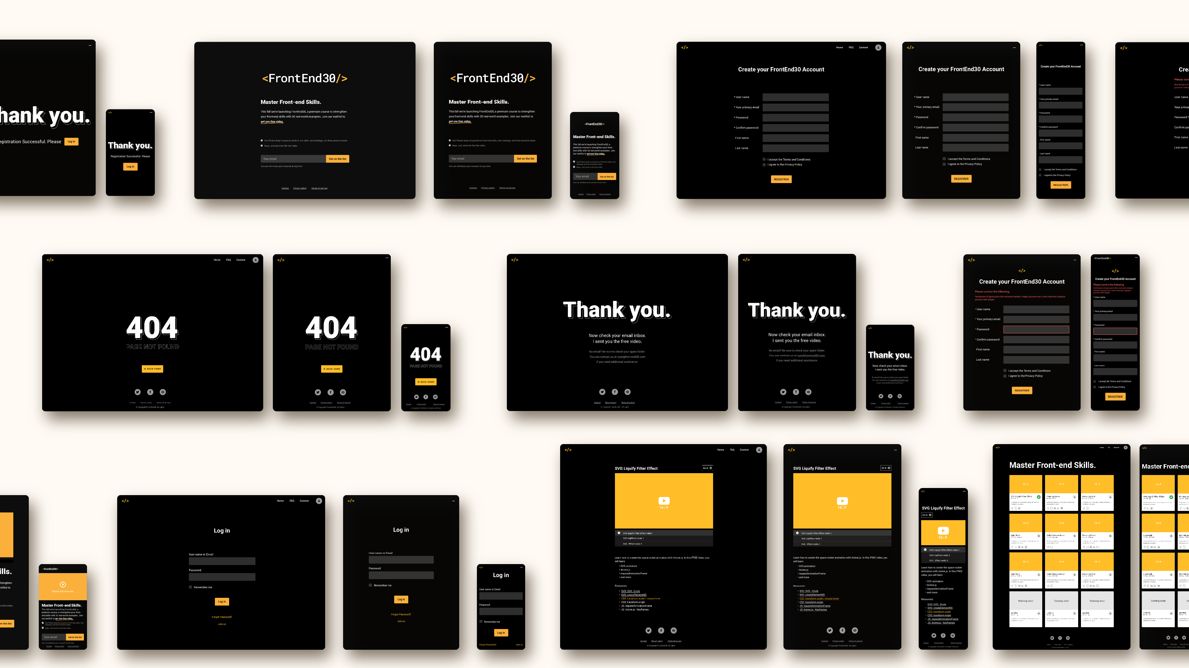 Web design for Front-End30
