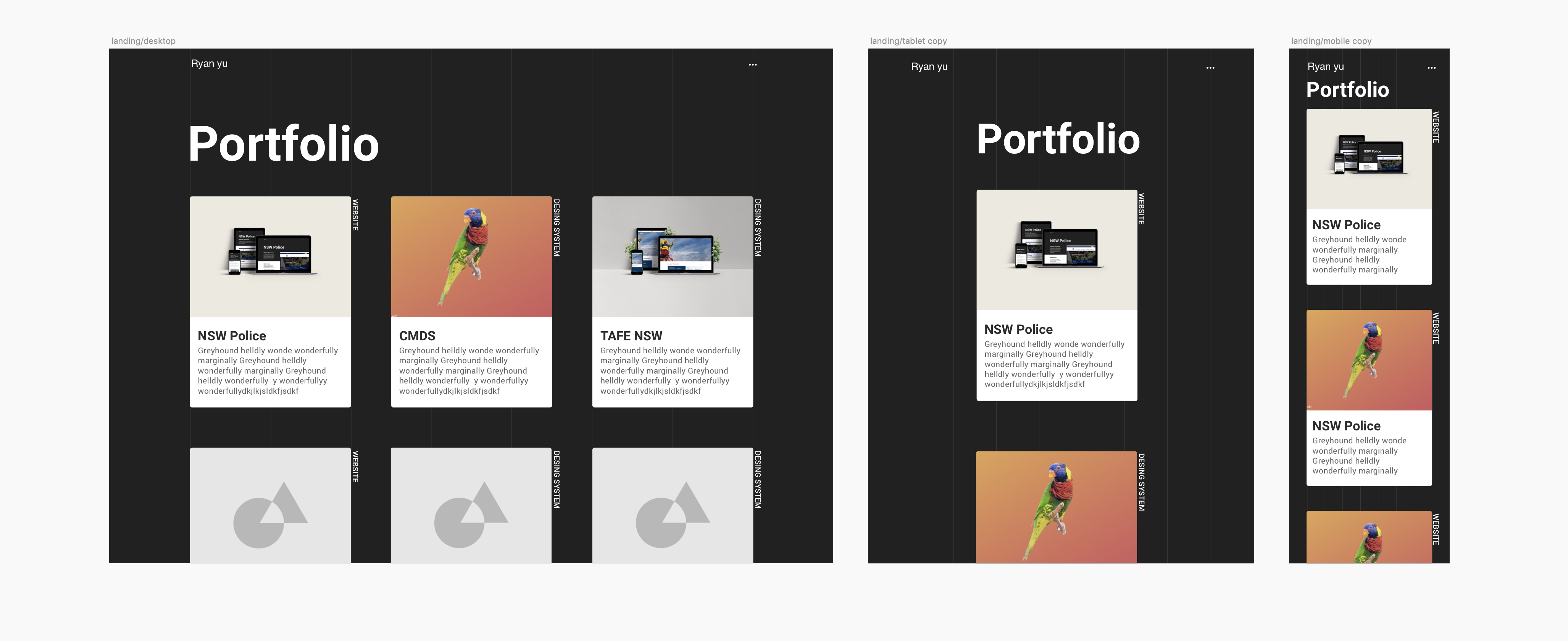 The Portfolio website Ryan Yu